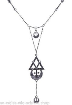 Restyle-Halskette-Gothic-Steampunk-Necklace-Occult-Moon-Sailor-Alchemy-Geometry