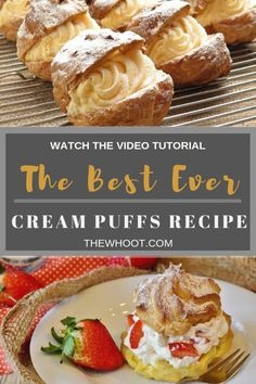 creme puff Learn how to make the best ever cream puffs recipe. We have a video tutorial to show you how plus we feature some other favorite versions. Pastry Recipes, Cooking Recipes, Keto Recipes, Fun Desserts, Dessert Recipes, Creme Puff, Cream Puff Recipe, Cakes Plus, No Bake Cake