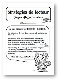 Inférences, connecteurs, substituts: exercices d'entrainement French Teaching Resources, Teaching French, Reading Resources, Reading Strategies, Reading Activities, Guided Reading, Teaching Reading, Teacher Resources, Read In French