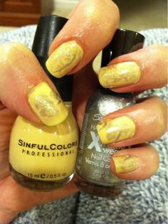 Snow White, sinful colors, bundlemonster, sally hansen, nails, nail stamping
