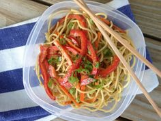 Transform plain leftover cooked spaghetti into an Asian-inspired cold Vegetable Noodle Salad.
