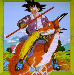 jinzuhikari:  Songokuh from DRAGON BALL Z POSTER 1991 CALENDAR source : Shueisha group / Toei Animation