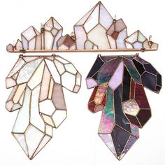 sosuperawesome: Stained Glass Suncatchers by Neile on Etsy Stained Glass Tattoo, Stained Glass Art, Stained Glass Windows, Mosaic Glass, Window Glass, Stained Glass Suncatchers, Stained Glass Projects, Stained Glass Patterns, Do It Yourself Inspiration