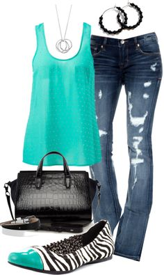 """Tiffany Blue"" by jayneann1809 on Polyvore"