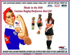 NO NEED TO WAIT FOR SHIPMENTS OVERSEAS- MADE IN THE USA RUGBY UNIFORMS. RUGBY ROSIE SAYS WEAR USA RUGBY CLUB UNIFORMS.