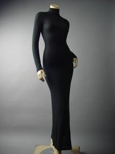 Turtleneck Black Fitted Sweater Knit Women Long Maxi 135 mv Dress S M L 1X 2X 3X #Other #Maxi #Casual