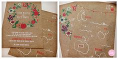 Wedding invites designed by Sarah from London