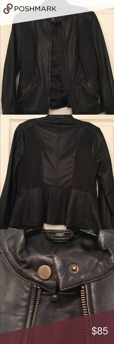 Genuine Black Leather Jacket 100% genuine leather jacket case study Jackets & Coats