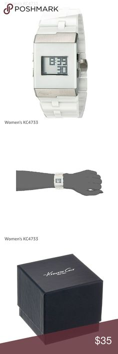 AUTHENTIC Kenneth Cole Digital Watch White Ceramic Digital Watch for Women Kenneth Cole Accessories Watches