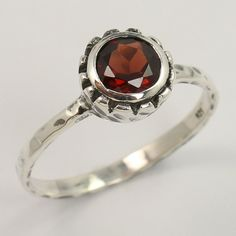 Natural GARNET Gemstone 925 Sterling Silver Jewelry Ring Size US 9.25 Best Gift #Unbranded