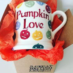 Personalised Polka Pumpkin Half Pint Mug