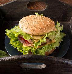 Hamburger by peterzsuzsa on @creativemarket