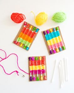 hello, Wonderful - HOW TO MAKE A Q-TIP WEAVING LOOM FOR KIDS