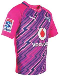 PUMA has unveiled a dramatic new away kit that the Bulls will sport in the 2012 Super Rugby competition. Football Shirt Designs, Football Shirts, Soccer Jerseys, Rugby Jersey Design, Jersey Designs, Rugby Sport, Super Rugby, Jersey Atletico Madrid, Rugby