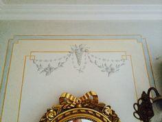 Handpainted walldecor Gustavian style