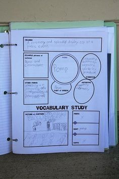 Vocabulary notebook.   Has great features that helps students understand the word and how to use itl
