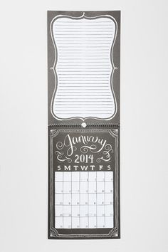 Urban Outfitters - Paper Source Chalkboard 2014 Calendar