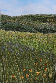 "Bloom 2"" by Monika Kinner-Whalen | embroidery as art"