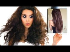 Straight Hair WITHOUT Heat (Curly Hair Tutorial) - YouTube (I don't even have curly hair, but this is genius!)