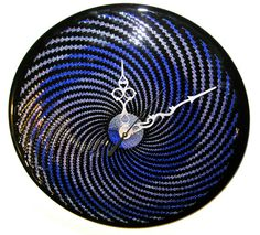 Blown Glass Clock by TheGoodTimesGlass on Etsy, $500.00
