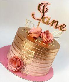 first birthday photo 50th Birthday Cake For Women, Birthday Cake For Women Elegant, Elegant Birthday Cakes, 40th Birthday Cakes, Elegant Cakes, 14th Birthday, 7 Cake, Cupcake Cakes, Birthday Cake Decorating
