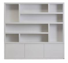 Built In Shelves Living Room, Home Office Shelves, Wall Bookshelves, Bookshelf Design, Bedroom Wall Units, Bedroom Cupboard Designs, Baby Room Design, Baby Room Decor, Home Office Design