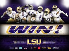 2013 #LSU Football Poster. GEAUX TIGERS!!!