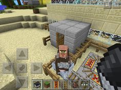 My villager/cow in a minecart.
