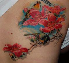 Realism Nature Tattoo by Pavol Krim Tattoo? Butterfly With Flowers Tattoo, Flower Tattoos, Full Body Tattoo, Body Tattoos, Tatoos, Insect Tattoo, Wicked Tattoos, Feminine Tattoos, Tattoo Parlors
