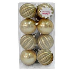 You'll have the best seasonal décor with the 8 Count Matte Shiny Round Gold. To purchase, and find more affordable Indoor Christmas Décor, visit your local At Home store. Indoor Christmas Decorations, Christmas Bulbs, Seasonal Decor, Holiday Decor, Ornament Box, At Home Store, Happy Holidays, Count, Christmas Light Bulbs