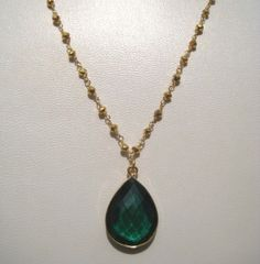 24kt. Gold Plated Pyrite Gemstone Beaded Necklace by finegemstone, $30.00
