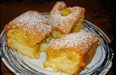 Sopaipilla Cheesecake Squares (cheesecake bars with a delicious creamy center and a crunchy cinnamon to) Greek Sweets, Greek Desserts, Greek Recipes, Snack Recipes, Dessert Recipes, Cooking Recipes, Cake Recipes, Sweets Cake, Cupcake Cakes