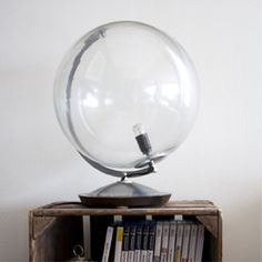 Turn an old globe into a lamp!