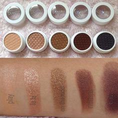 @colourpopcosmetics super shock shadow swatches! They're so creamy and pigmented. They're all of @kathleenlights favorites. LALA THO