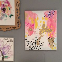 hand painted acrylic painting canvas Hand painted spotted gold leaf painting. I love to paint and share my art with the world! Thanks for your support.. Make an offer. Kate spade designs inspired me, I love all of her designs because they are so fun and young and fresh! kate spade Other