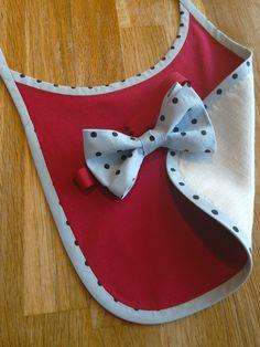 Baby bib with matching bowtie Bowties, Baby Bibs, Kitten Heels, Handmade, Shoes, Fashion, Tie Bow, Bibs, Moda