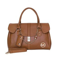 Welcome To Our Michael Kors Fashion Logo Chain Large Brown Satchels Online Store