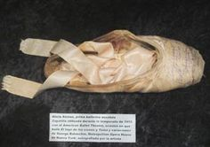 This is a photo of Alicia Alonzo's shoe in the Museum of Dance in Havana, Cuba. Next week, the Royal Ballet of Cuba, directed by Alicia Alonzo now in her 90's, will be performing in Merida.