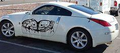 CAR VINYL GRAPHICS STICKER RACING TRIBAL TATTOO HEART SKULL FIVE POINTS G219