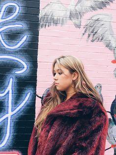 vintage faux coat, winter wear, new york city, blogger