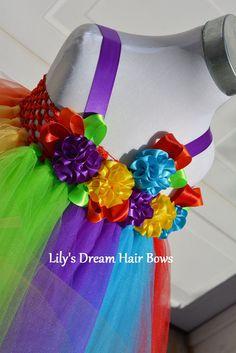 5%OFF Rainbow tutu dress rainbow bright birthday tutu dress flower girl tutu dress circus tutu dress rainbow