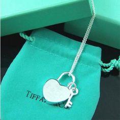 Tiffany And Co Tiffany Heart & Key Charm Necklace#Tiffany Necklaces 054