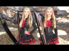 Iron Maiden - Fear of the Dark (Harp Twins electric) Camille and Kennerly