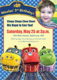 Personalized Printable Chuggington Birthday Card - Printable PDF. $8.50, via Etsy.