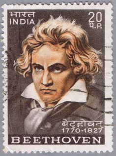 INDIA - CIRCA 1970: A stamp printed in India shows Ludwig van Beethoven, circa 1970.  Copyright: brandonht
