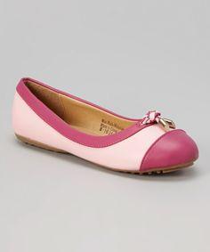 Another great find on #zulily! Pink & Fuchsia Tassel Flat #zulilyfinds