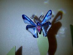 Retired Swarovski Crystal Paradise Ansina Exotic Butterfly Figurine w Box   eBay