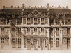 Elevation of the Cour de Marbre, Versailles