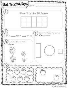 Daily Math 1 (Back to School) First Grade.