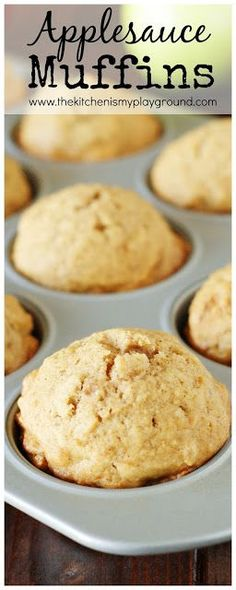 Applesauce Muffins ~ Perfect for breakfasts